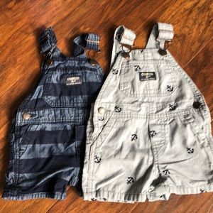 Set of Oshkosh overalls, size 6 months